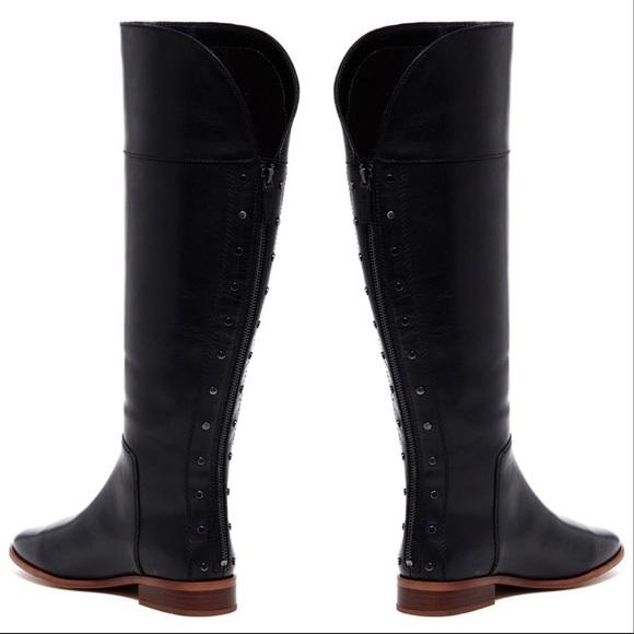 248aa4ac86c2 Franco Sarto Shoes - Franco Sarto Roselle Leather Knee High Riding Boot